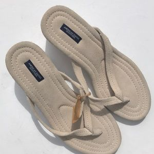 American eagle suede wedge sandals